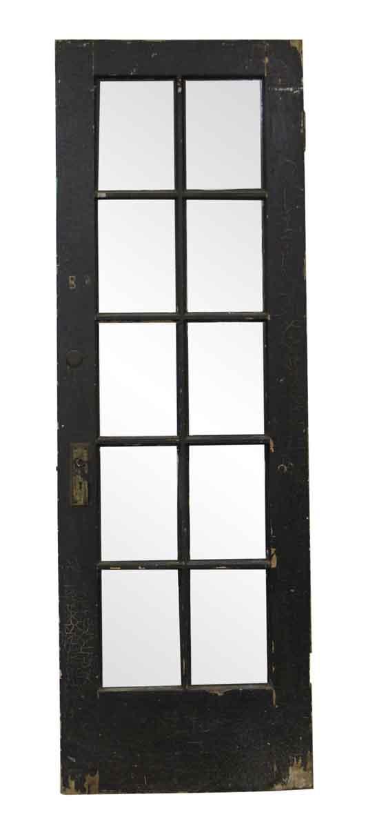 French Doors - Vintage 10 Lite Wood French Door 83.625 x 28