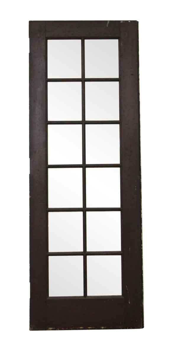 French Doors - Vintage 12 Lite Oak French Door 88.125 x 32.125