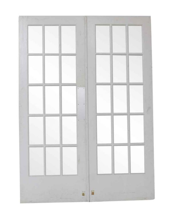 French Doors - Vintage 15 Lite White Double French Doors 83 x 59.75