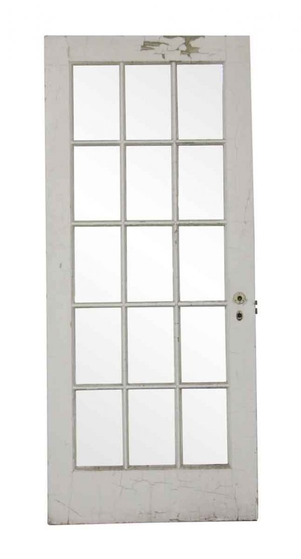French Doors - Vintage 15 Lite White French Door 83.375 x 35.75