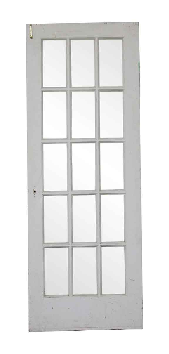 French Doors - Vintage 15 Lite Wood French Door 79.75 in. H x 29.625