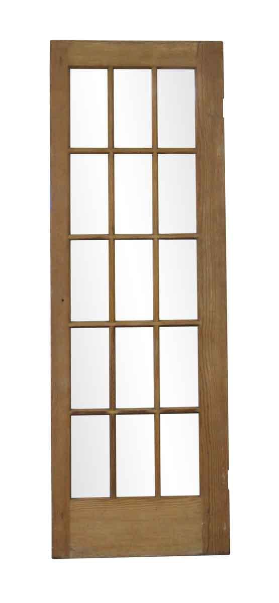 French Doors - Vintage 15 Vertical Lite Wood French Door 83.625 x 28.625
