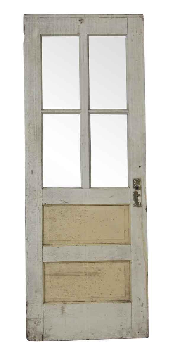 Standard Doors - Vintage 4 Lite 2 Pane Wood Door 81.25 x 30.25