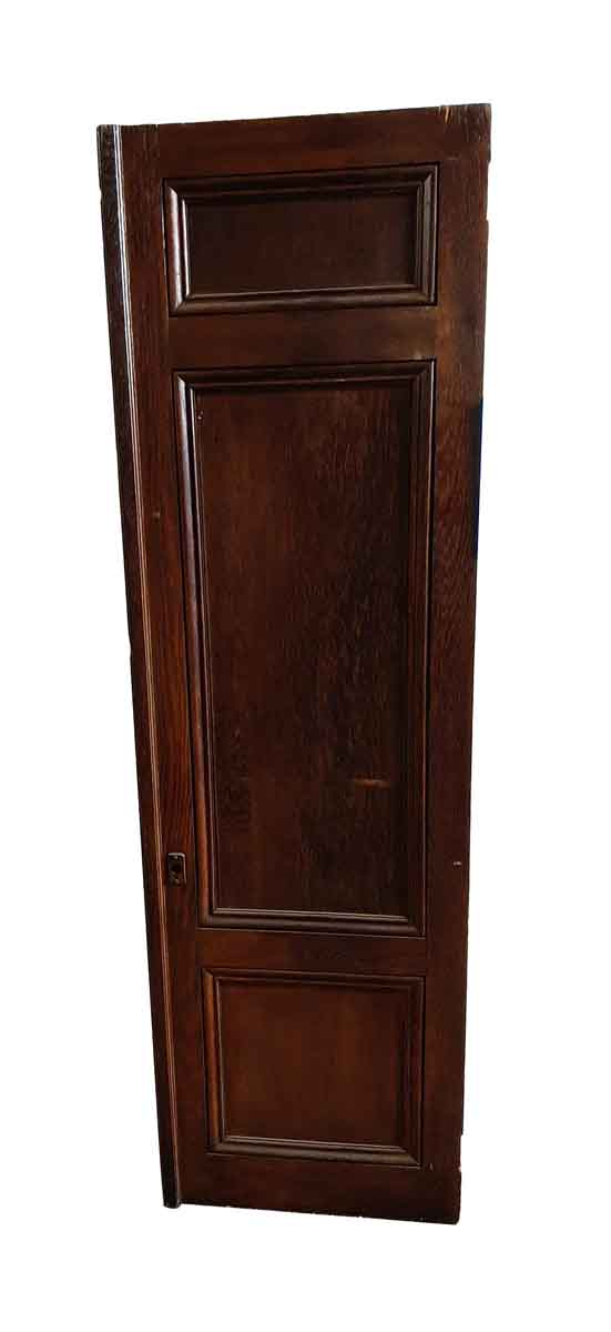 Cabinet Doors - Vintage 3 Pane Oak Wood Cabinet Door 63.125 x 18.75