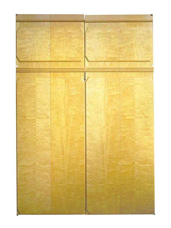 Closet Doors - Vintage 2 Pane Bifold Maple Double Doors 106.75 x 74