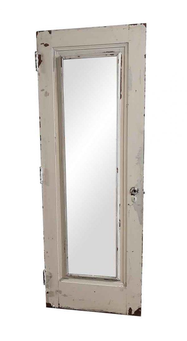 Closet Doors - Vintage Mirrored Pane Wood Closet Door 79.5 x 28