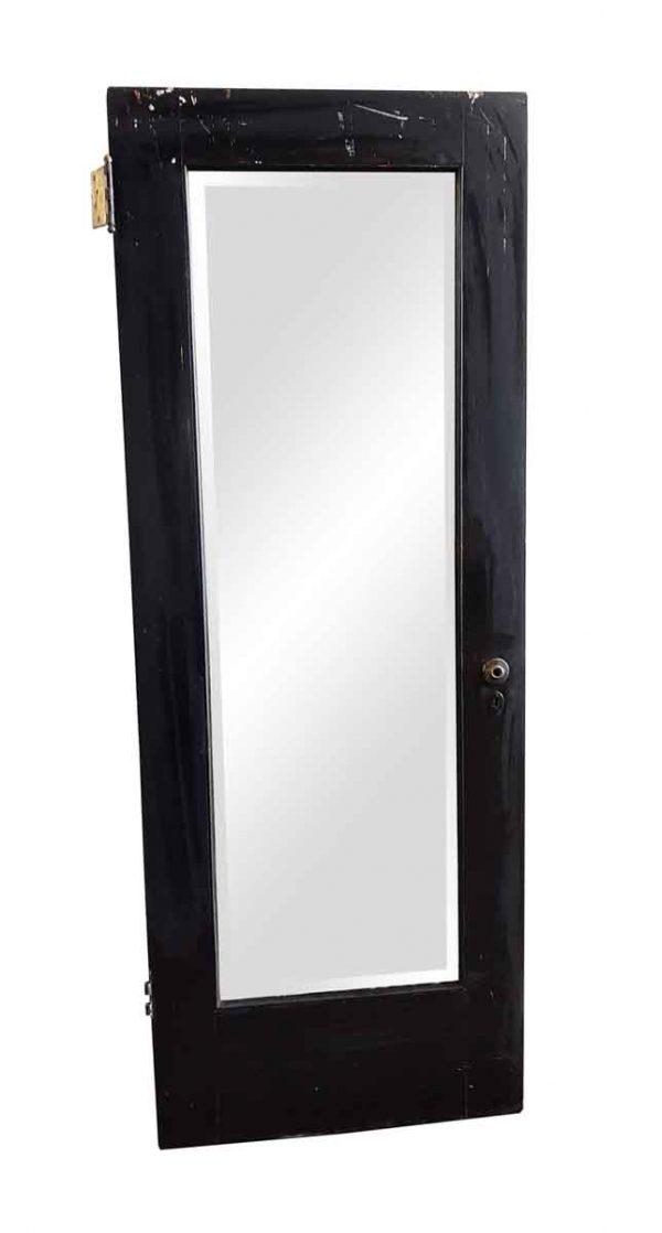 Closet Doors - Vintage Mirrored Pane Wood Closet Door 79.5 x 29.875