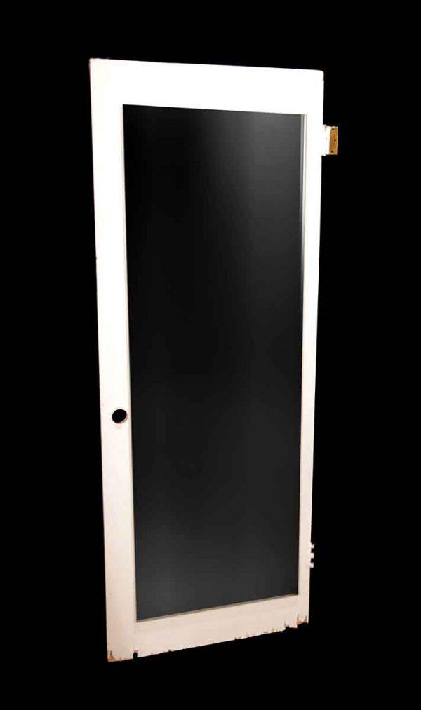 Closet Doors - Vintage Non Panel Mirrored Wood Closet Door 78.75 x 29.75