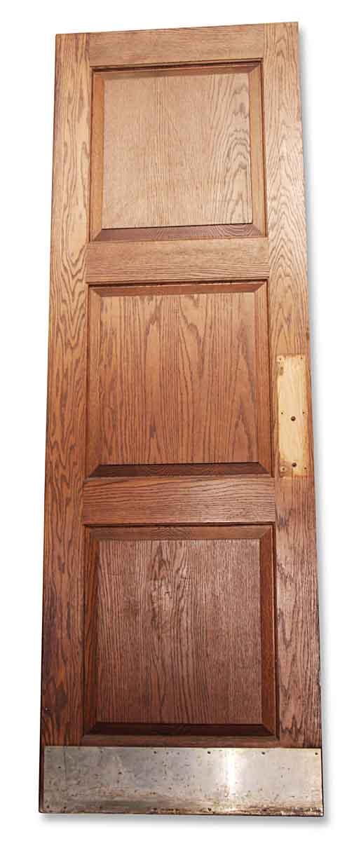 Commercial Doors - Antique 3 Pane Oak Swinging Commercial Door 95.5 x 32
