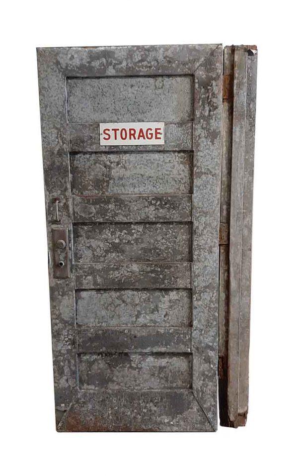 Commercial Doors - Antique 5 Pane Steel Storage Room Door 75.5 x 33.625