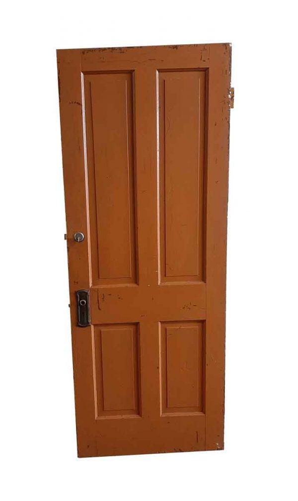 Commercial Doors - Painted Wood 4 Paneled Apartment Door 77.5 x 29.75