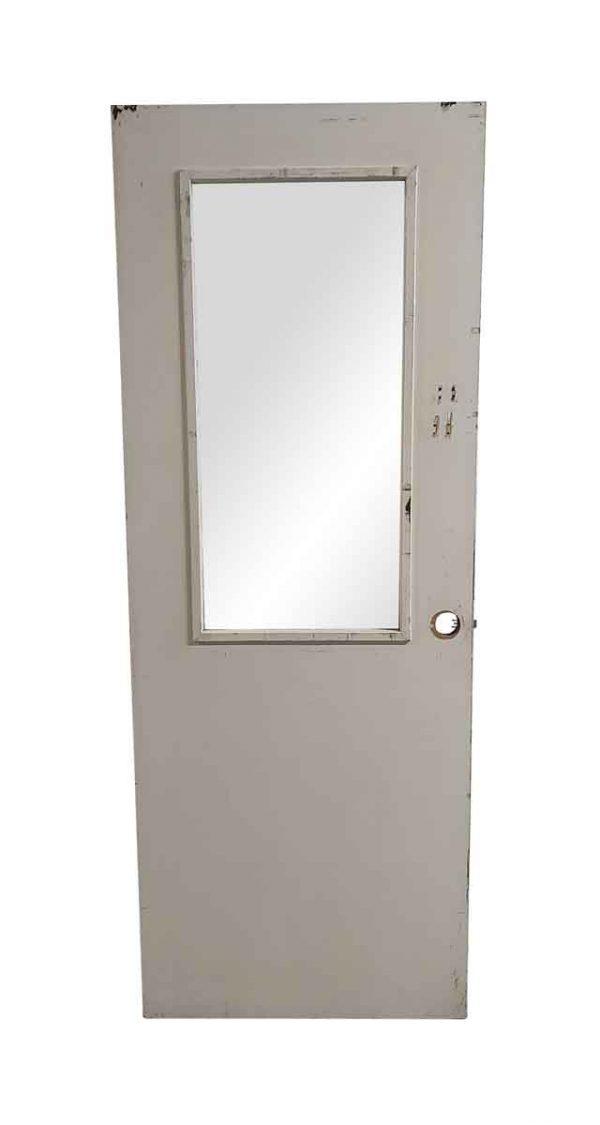 Commercial Doors - Vintage 1 Lite Pane Wood Office Door 79.25 x 29.75