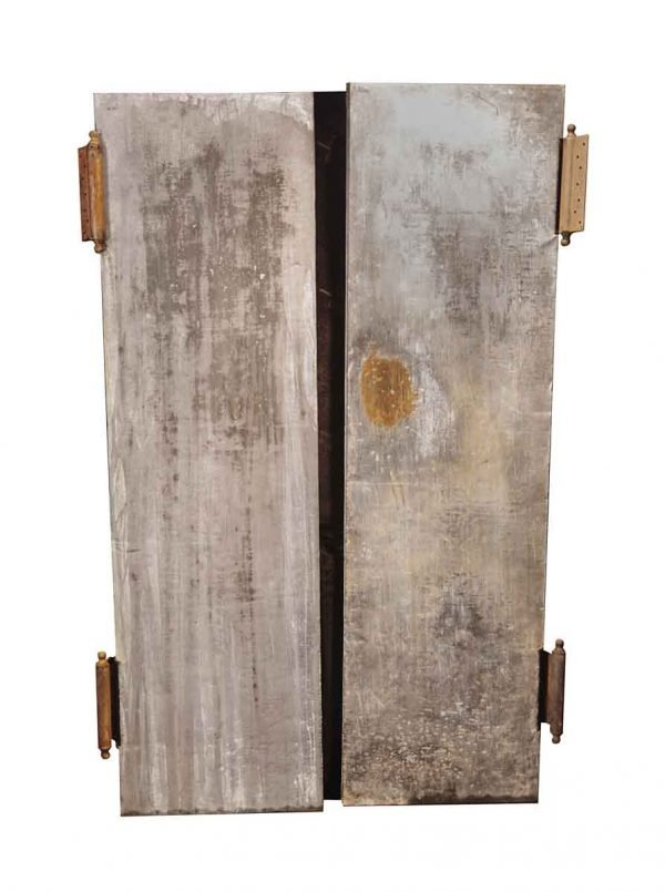Commercial Doors - Vintage Galvanized Steel Industrial Double Doors 82 x 47.25