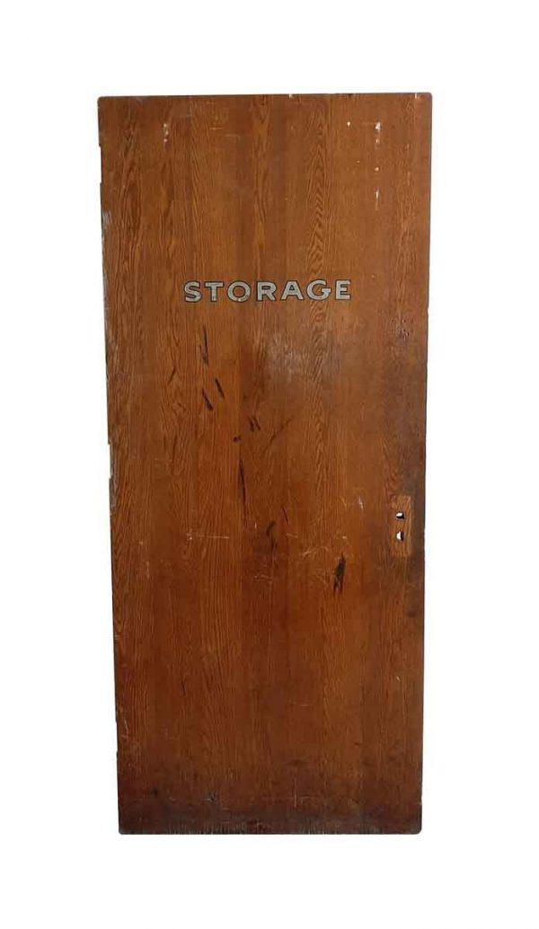 Commercial Doors - Vintage Oak Wood Storage Door 84 x 35.75