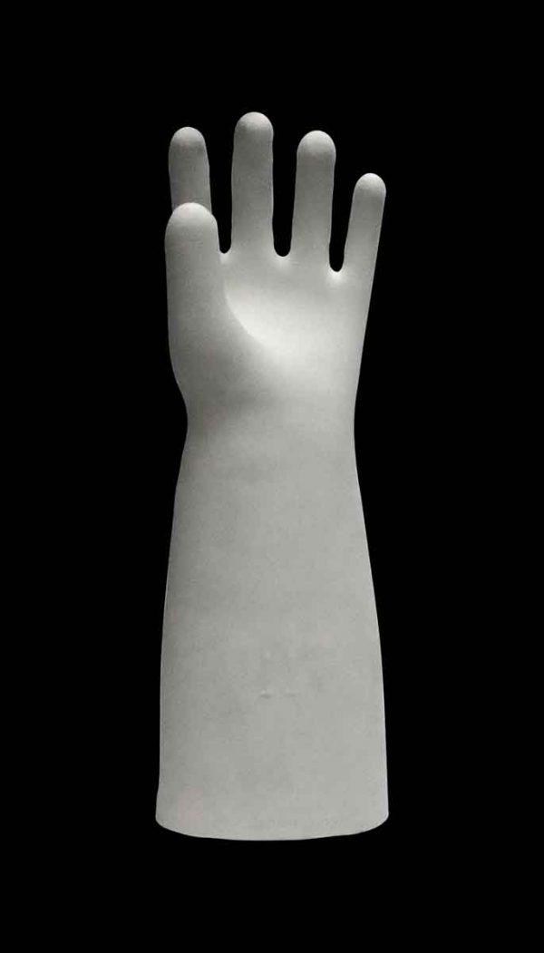 Commercial Furniture - Vintage White Ceramic Left Hand Model Display