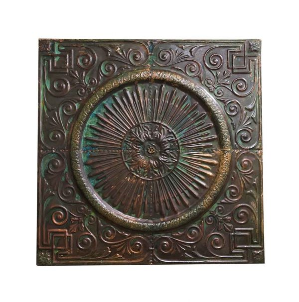 Copper Mirrors & Panels - Green Patina Copper Medallion 47 in. Wall Panel