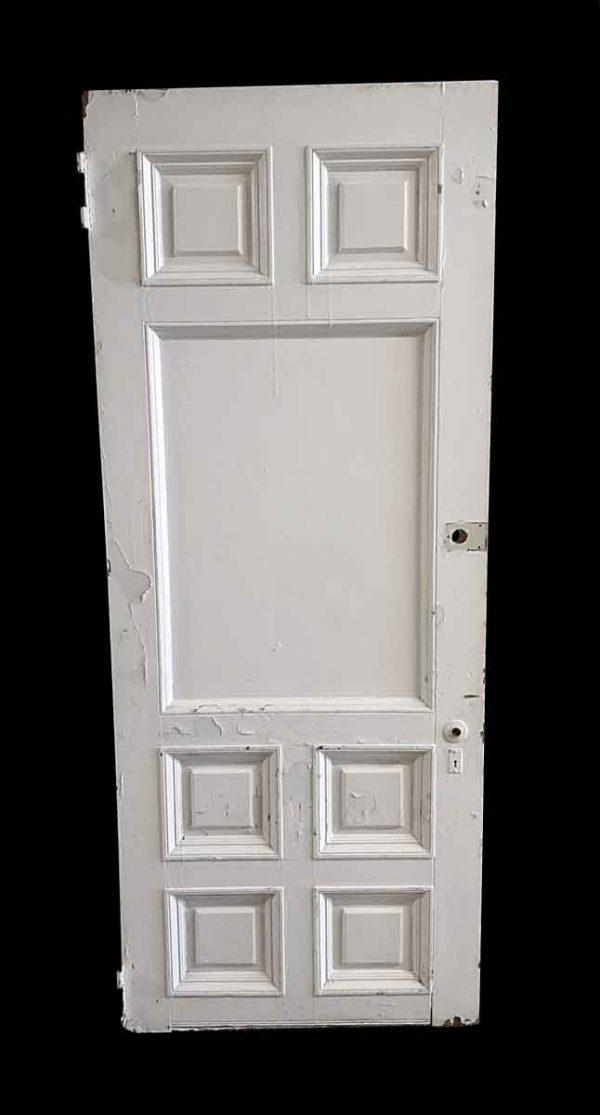 Entry Doors - Antique 7 Pane Wood Entry Door 85.375 x 34.5