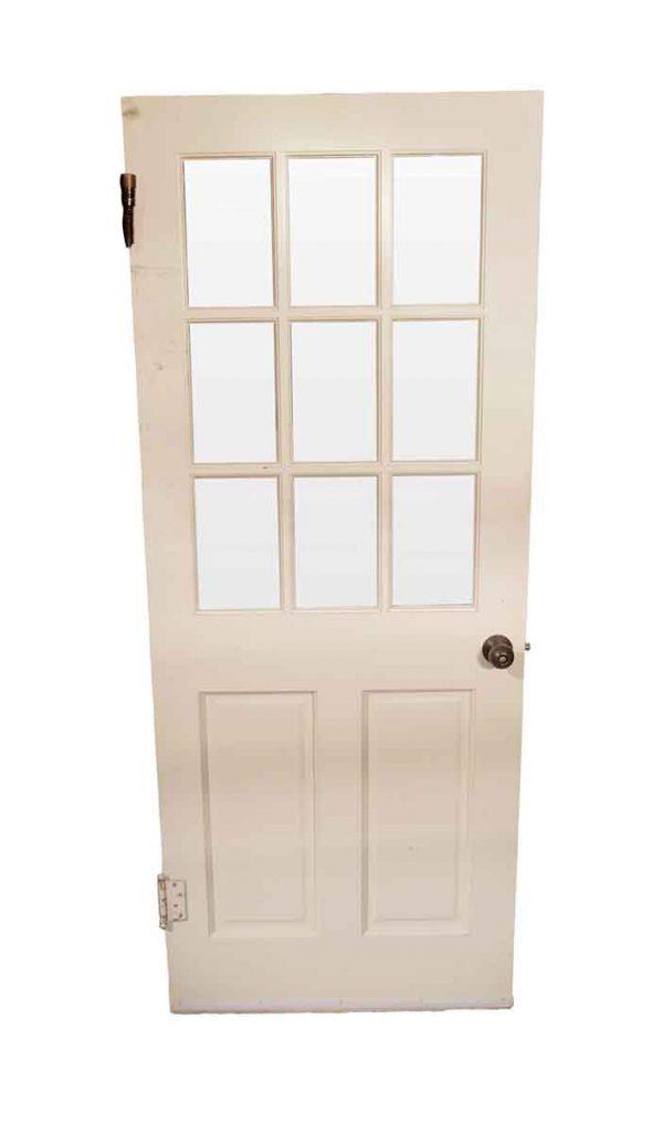 Entry Doors - Antique 9 Lite Wood French Door 79 x 31.75
