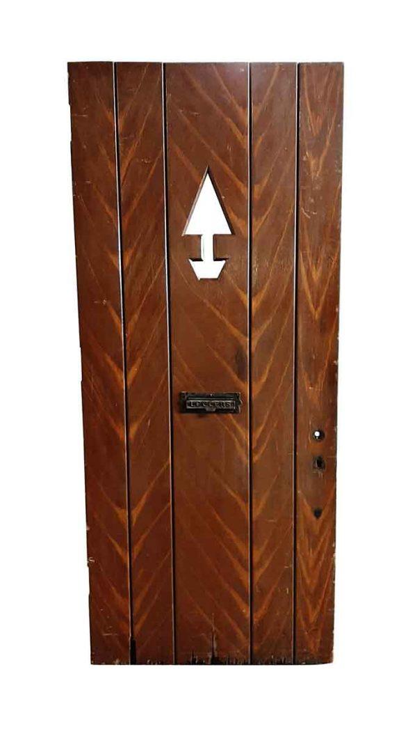 Entry Doors - Antique Arrow Lite Wooden Entry Door 90 x 38.5