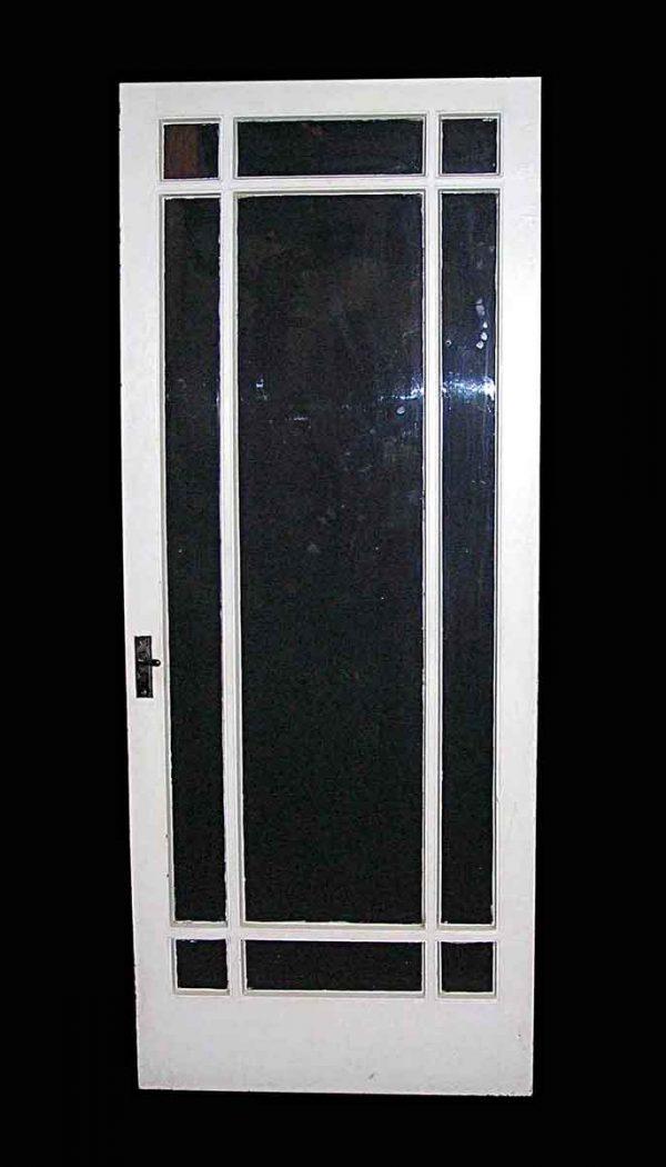 Entry Doors - Arts & Crafts 9 Lite Wood Entry Door 78.125 x 31.75