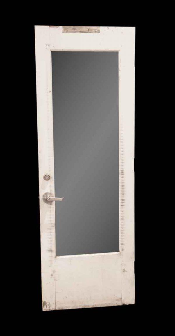 Entry Doors - Vintage Plexiglas Mirror Pane Wood Entry Door 82.25 x 28.375