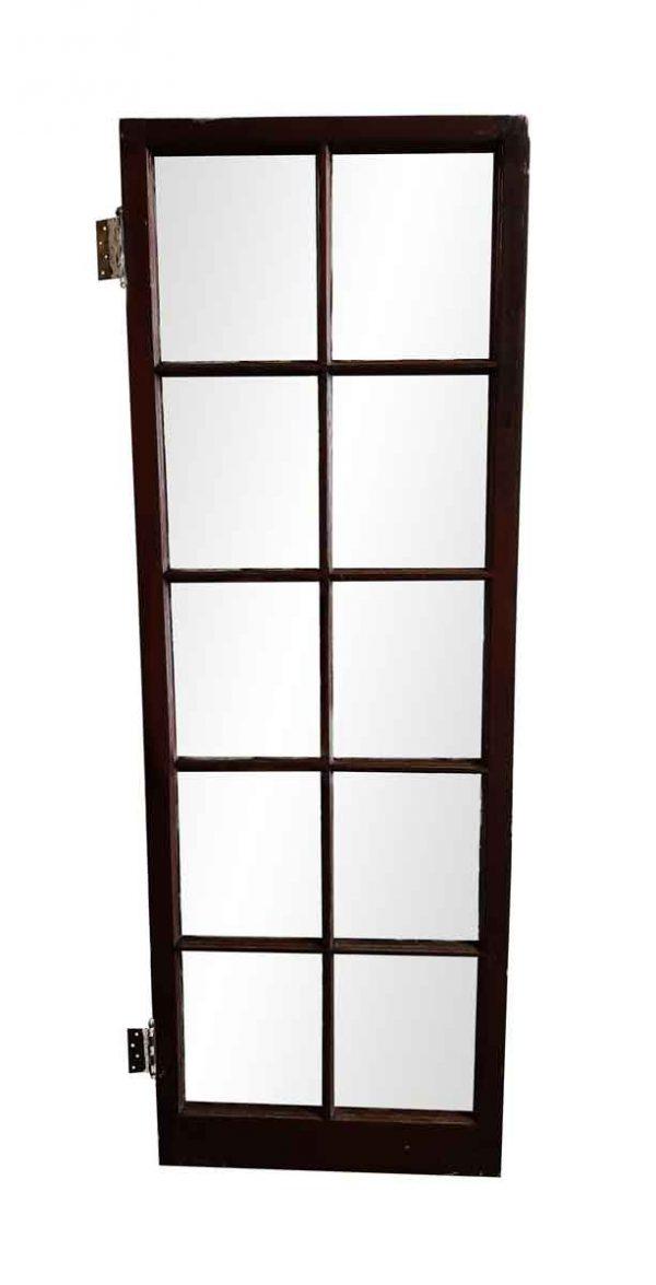 French Doors - Antique 10 Lite Oak Wood French Door 82.75 x 28.75