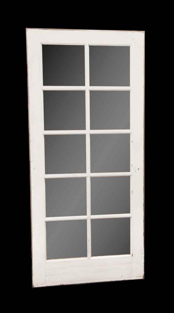 French Doors - Antique 10 Lite White Door French Door 79.5 x 36