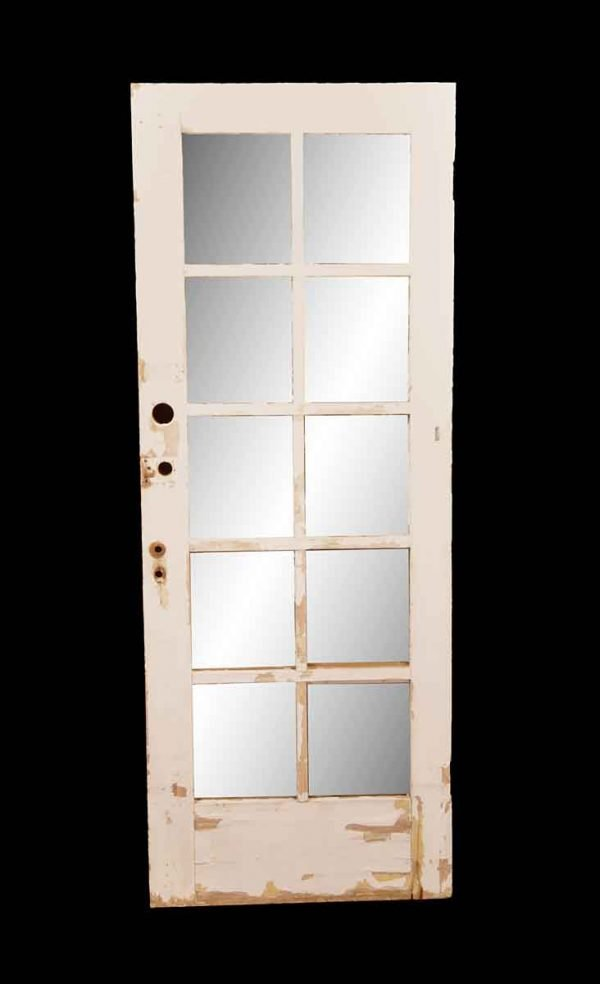 French Doors - Antique 10 Lite Wood French Door 78.5 x 29.75