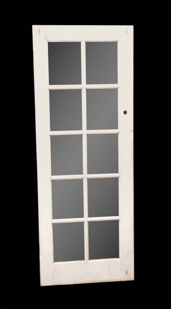 French Doors - Antique 10 Lite Wood French Door 79 x 29.75
