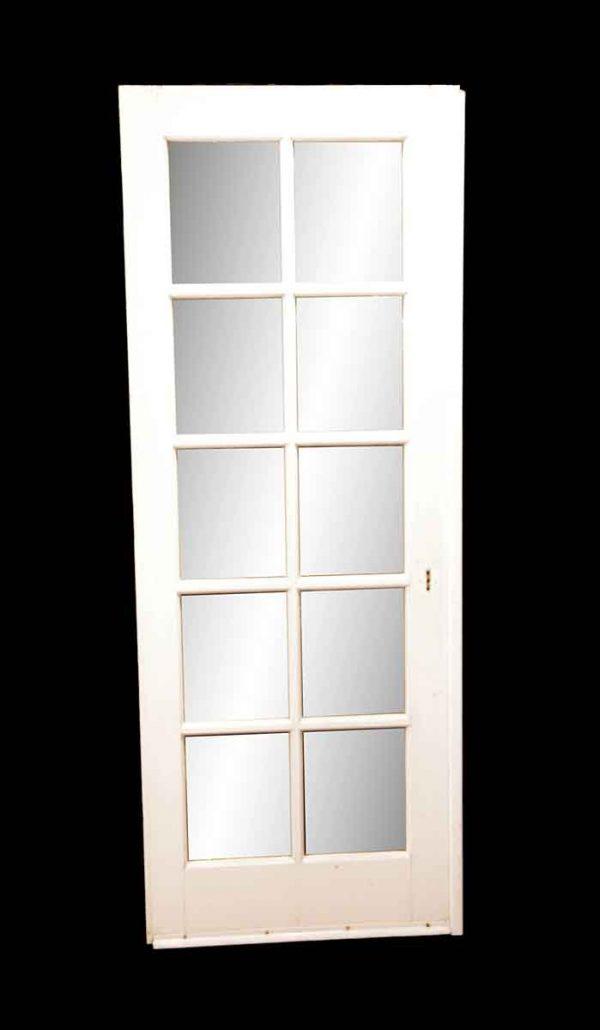 French Doors - Antique 10 Lite Wood French Door 79.5 x 30