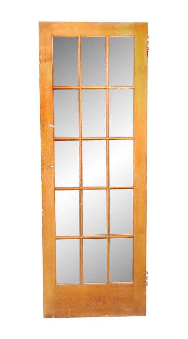 French Doors - Antique 15 Lite Wavy Glass French Door 84 x 30