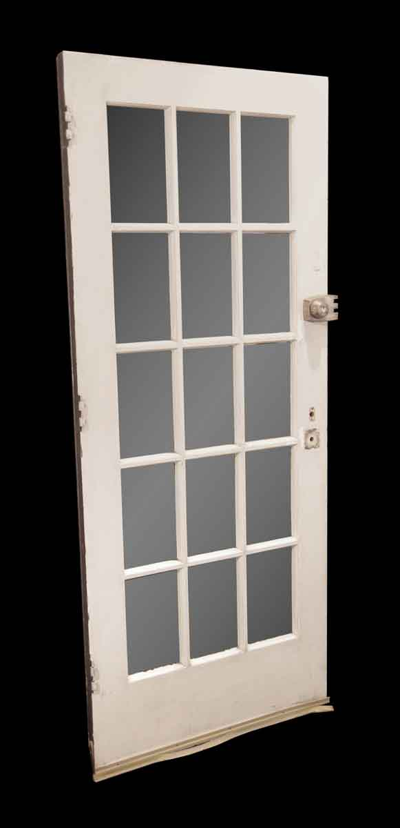 French Doors - Antique 15 Lites Wood French Door 78.5 x 33.75