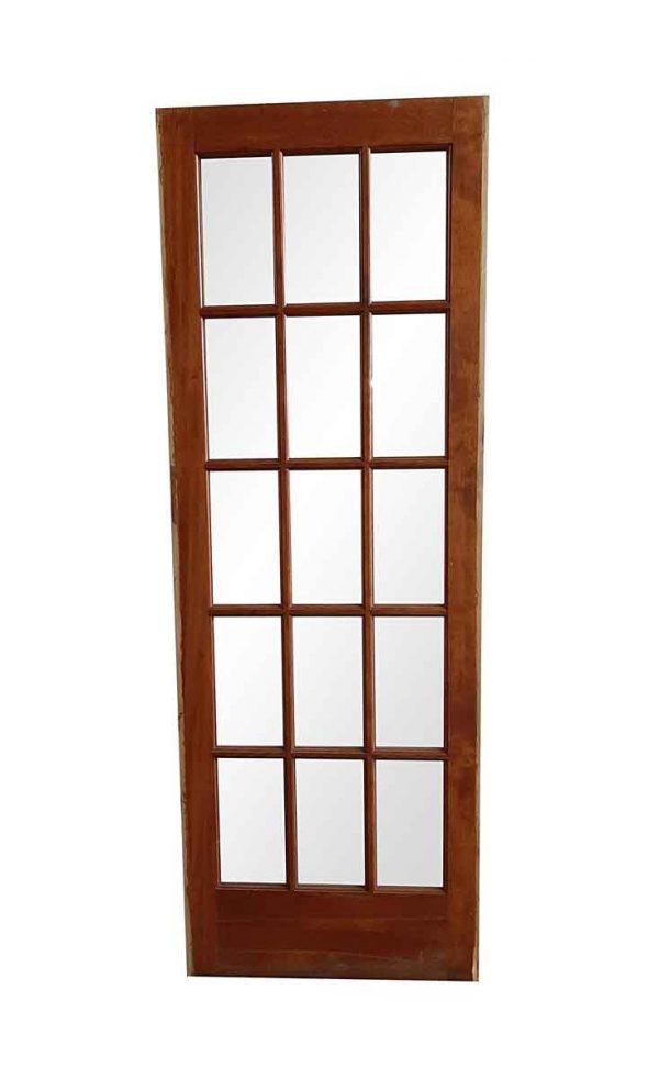 French Doors - Vintage 15 Lite Wood French Door 79.75 x 28