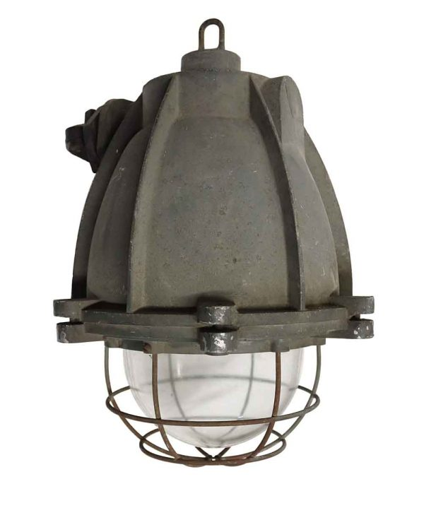 Industrial & Commercial - Heavy Cast Aluminum Industrial Light with Cage Cover