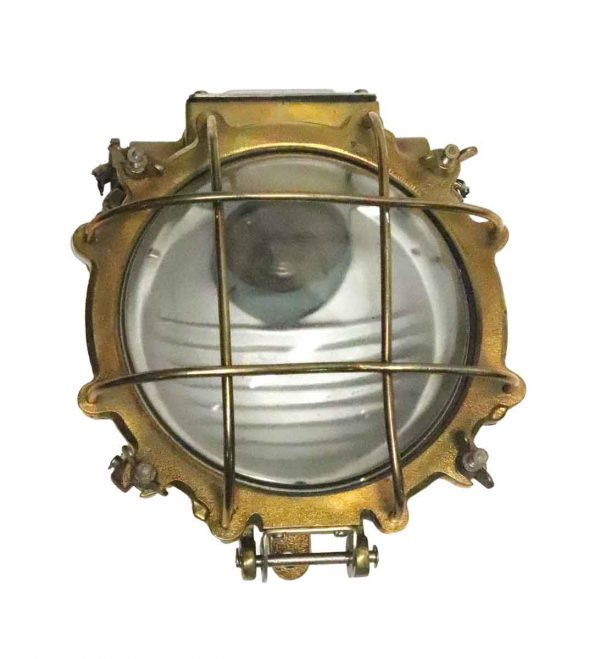 Nautical Lighting - Salvaged Antique Brass Ship Light