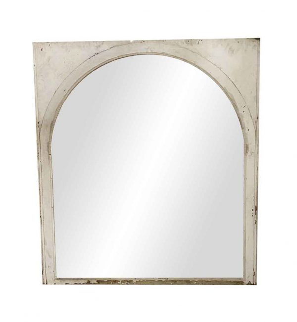 Reclaimed Windows - Turn of the Century Arched Glass Sash Window 63 x 56.5