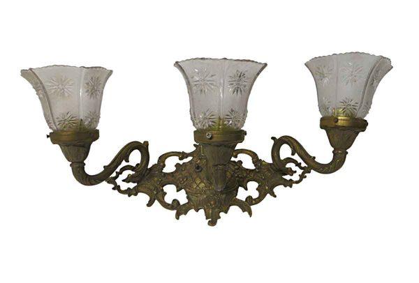 Sconces & Wall Lighting - Art Nouveau 3 Arm Bronze Wall Sconce