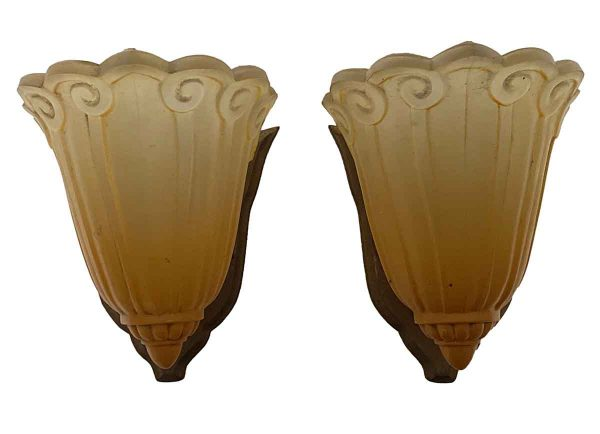 Sconces & Wall Lighting - Pair of Art Deco Antique Wall Sconces