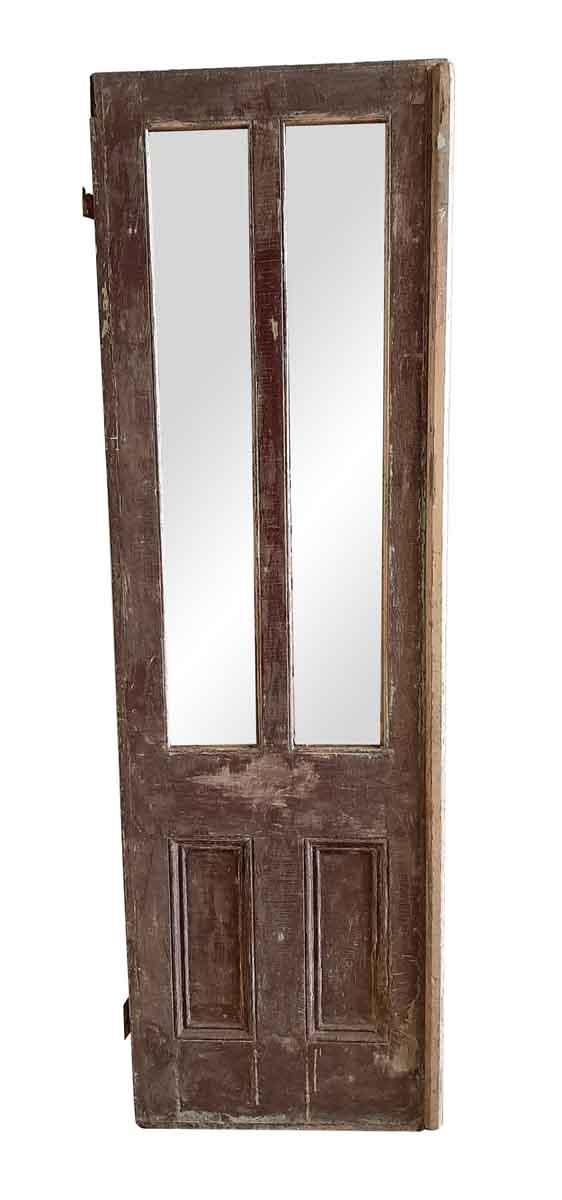 Standard Doors - Antique 2 Lite 2 Pane Wood Passage Door 85 x 26.25
