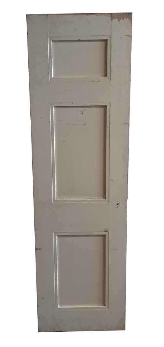 Standard Doors - Antique 3 Pane White Wood Passage Door 84.5 x 24.5