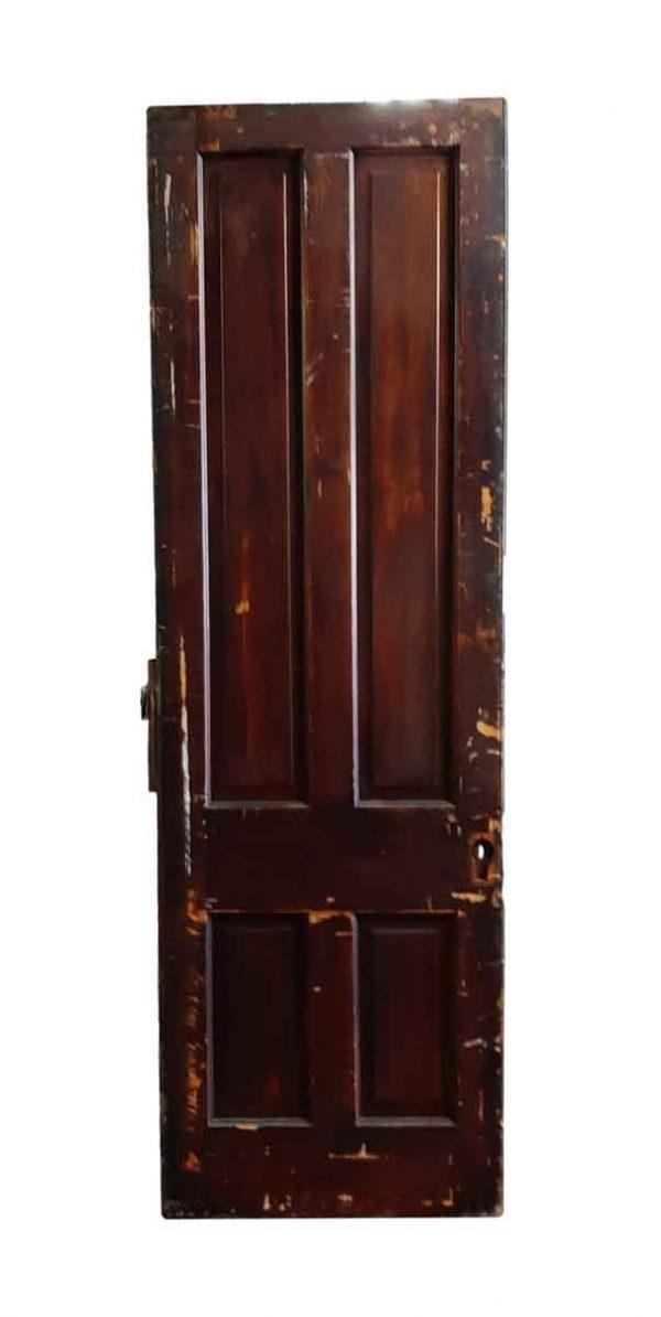 Standard Doors - Antique 4 Pane Pine Passage Door 83.5 x 30.25