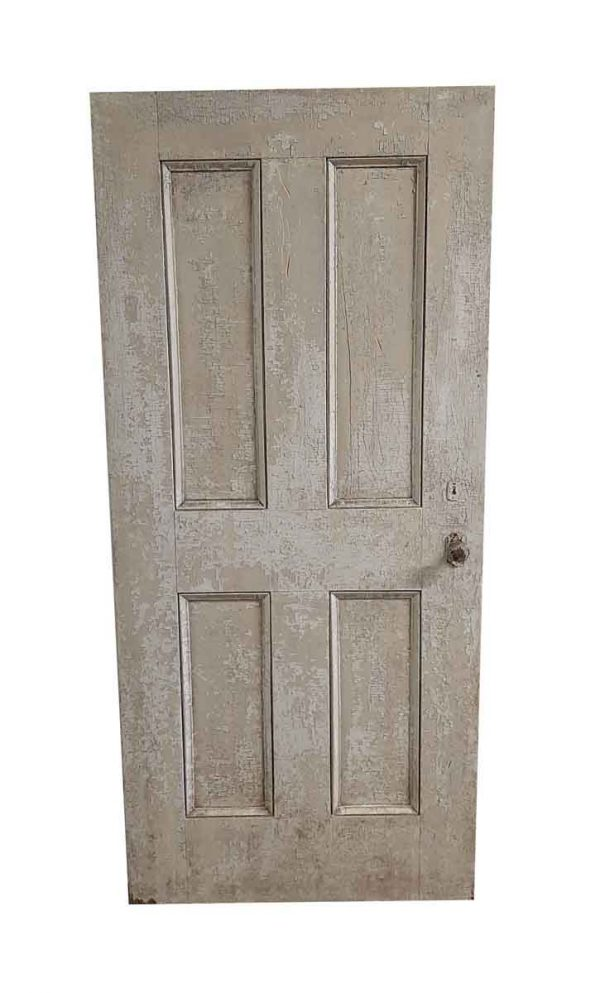 Standard Doors - Antique 4 Pane Wood Passage Door 77 x 34.75