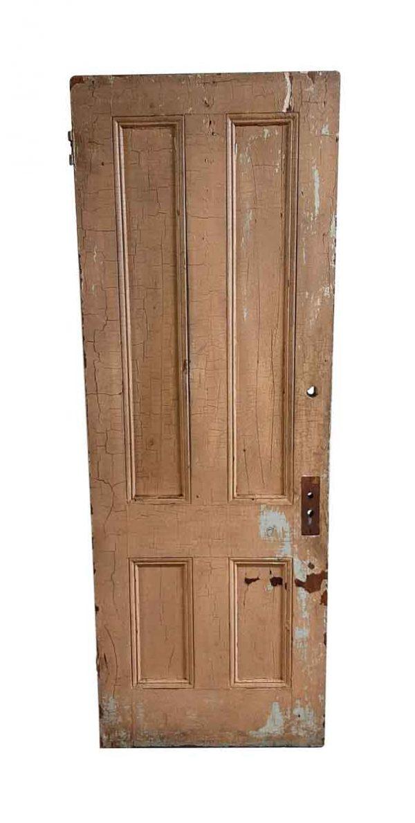 Standard Doors - Antique 4 Pane Wood Privacy Door 83.5 x 30