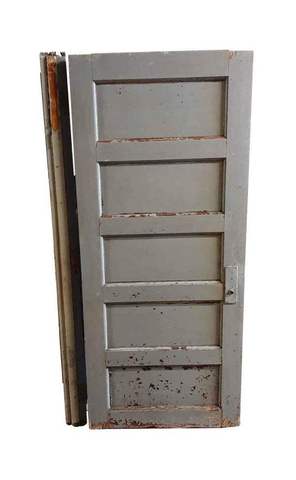 Standard Doors - Antique 5 Pane Oak Passage Door With Jamb 78.5 in. H x 33.875