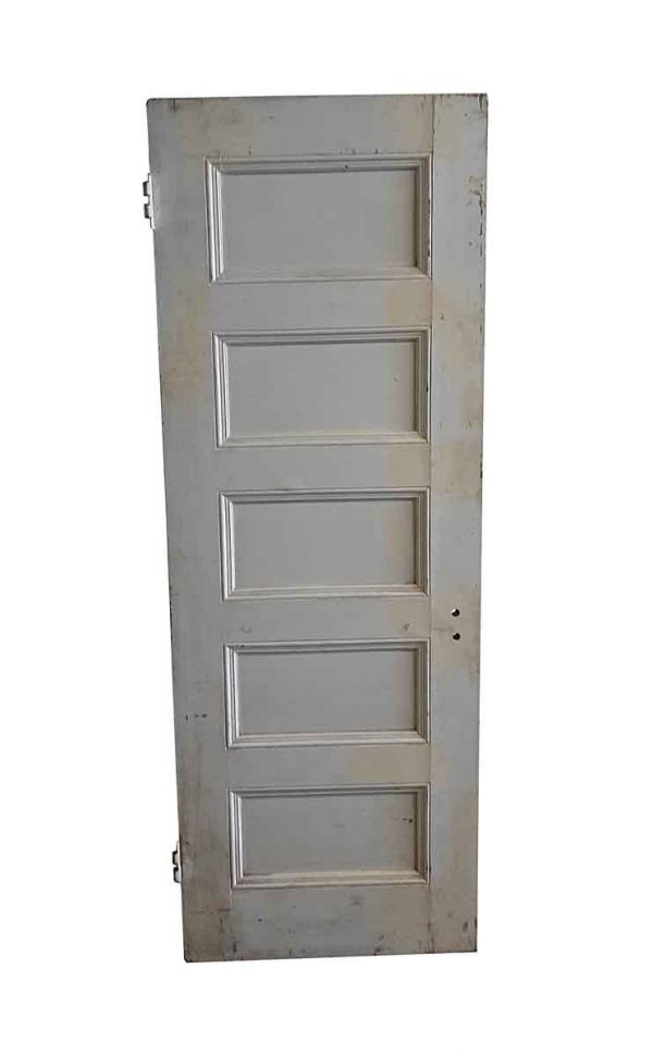 Standard Doors - Antique 5 Pane White Wood Door 83 x 29.75