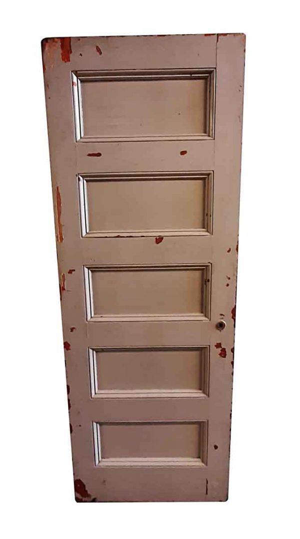 Standard Doors - Antique 5 Pane Wood Passage Door 81.5 x 29.5
