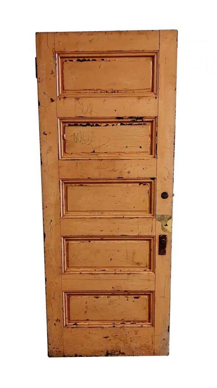 Standard Doors - Antique 5 Pane Wood Passage Door 89.5 x 35.625