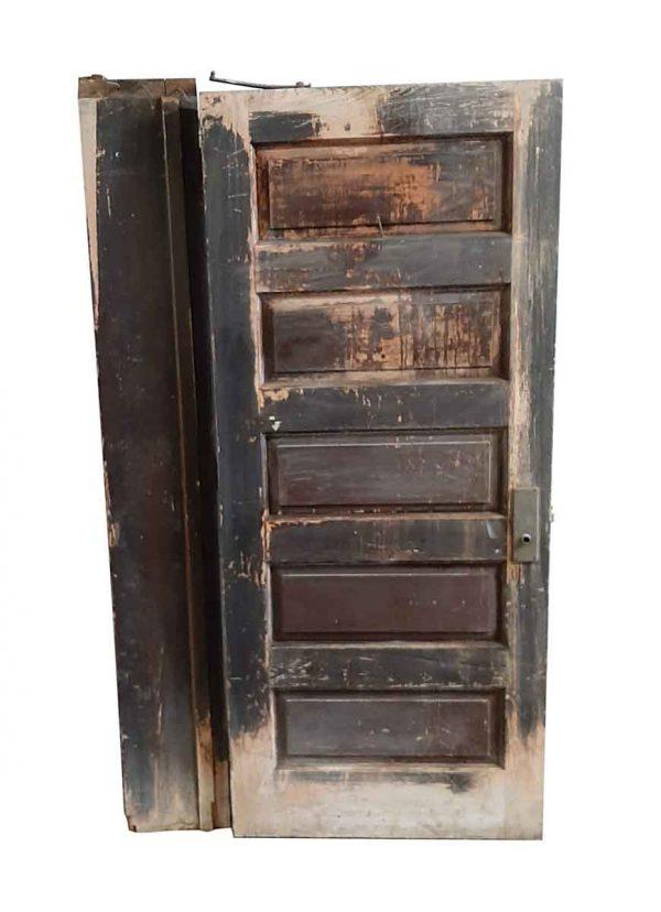 Standard Doors - Antique 5 Pane Wood Passage Door with Jamb 81.375 x 35.625