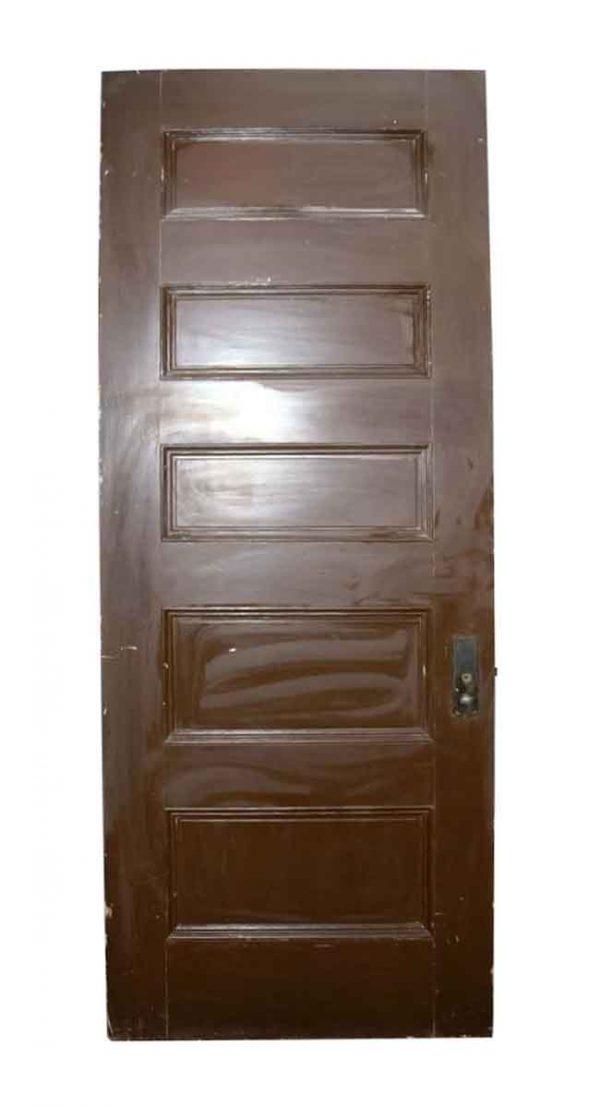 Standard Doors - Antique 5 Pane Wood Privacy Door 89.5 x 36