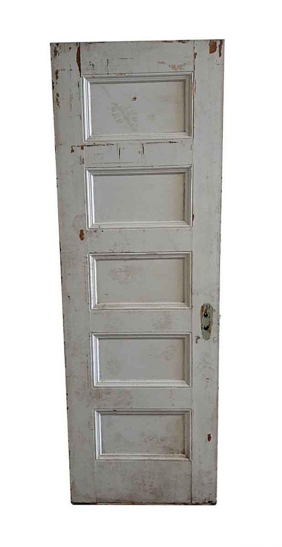 Standard Doors - Antique 5 Panel Wood Passage Door 82.375 x 27.75